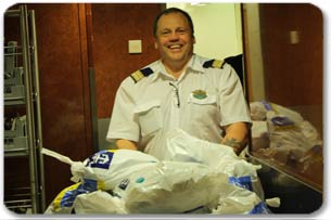 Royal Caribbean International's guests onboard Jewel of the Seas recently assisted staff and crew in packing relief supplies to be delivered to Haiti.