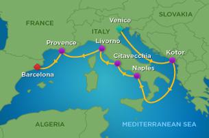 Royal Caribbean Mediterranean Cruise Map Tumblr Punchaoscom