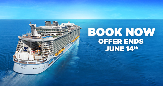 Royal Caribbean WOW Sale, up to $200 Onboard Credit and 50% Reduced Deposit