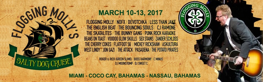 Flogging Molly's Salty Dog Cruise Banner