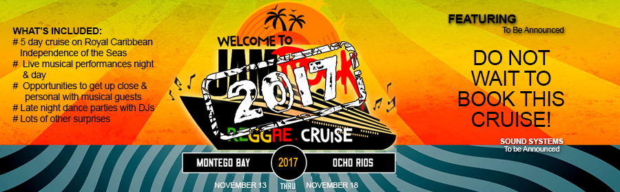 Welcome to the Jam Rock Reggae Cruise 2017 Banner