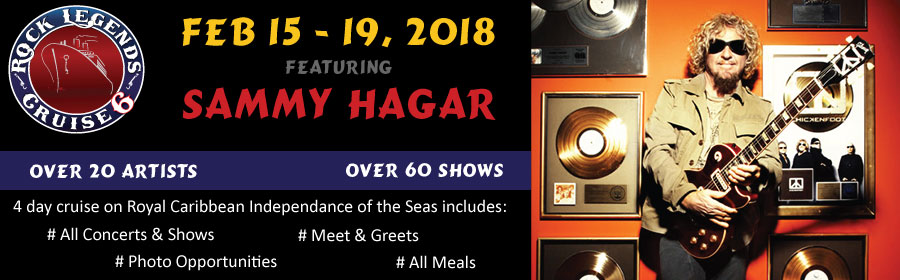 Sammy Hagar Rock Legends Cruise Banner