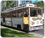 Hop on Hop off Waikiki Trolley