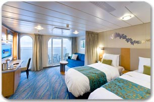 Family Ocean View Stateroom  Oasis Of The Seas Rooms