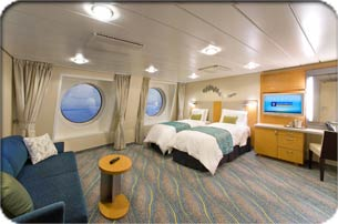 Family Ocean View Stateroom  Oasis Of The Seas Interior Rooms