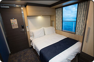 Studio interior stateroom with virtual view on anthem of for Anthem of the seas inside cabins