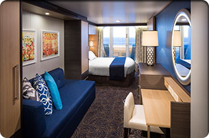 Deluxe Obstructed Ocean View Stateroom with Balcony