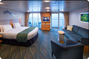 Accessible Family Ocean View Stateroom with Balcony