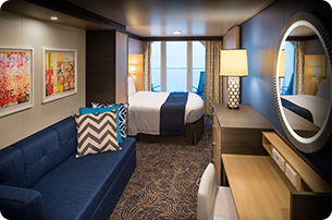 Superior Ocean View Stateroom with Balcony (Smaller Balcony)