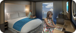 Accessible Larger Interior Stateroom with Virtual Balcony