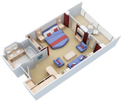 Grand Suite with Balcony  Oasis Of The Seas Rooms Layouts