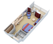 Junior Suite with Balcony  Oasis Of The Seas Rooms Layouts