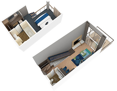 Accessible Crown Loft Suite with Balcony