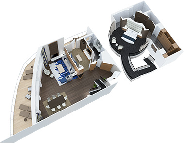 Royal Loft Suite with Balcony - First Floor