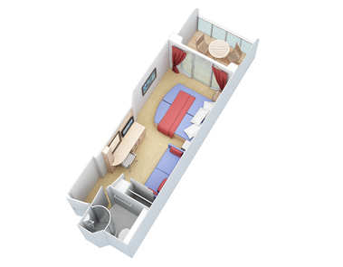 Superior Ocean View Stateroom  Oasis Of The Seas Rooms Layouts