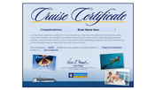 Cruise vacation gift certificates