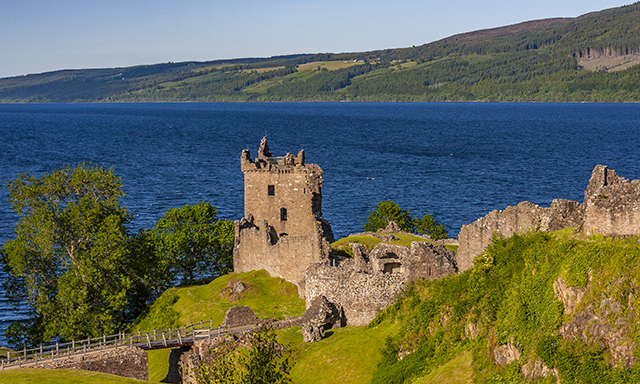 Loch Ness and Urquhart Castle Ruins