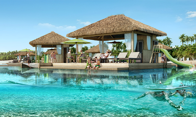 Coco Beach Club Floating Cabana And Full Day Pass