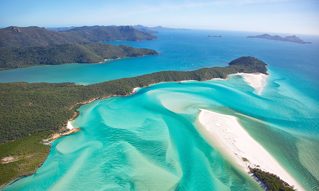 Helicopter Flight over Whitehaven Beach and Surrounds