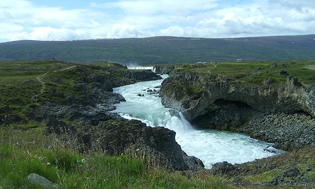 Leisurely Akureyri & the Godafoss Waterfall