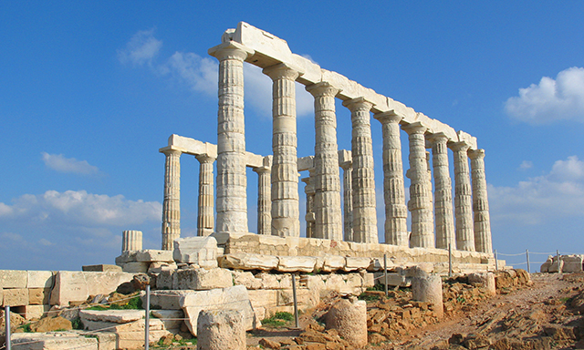 Temple of Poseidon and Yabanaki Beach