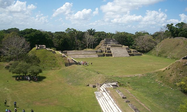 Altun Ha Mayan Site and River Wallace