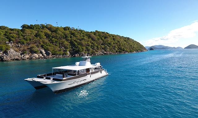Luxe Power Cat to Secluded Congo Cay