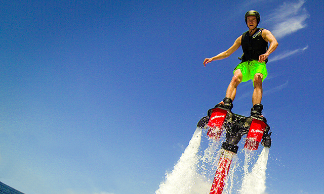 Flyboarding and Beach Escape