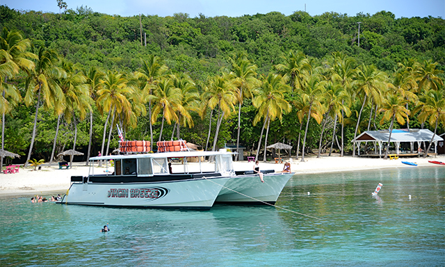 Caribbean 'FastCat'  2-Island Snorkeling Safari and Beach Getaway