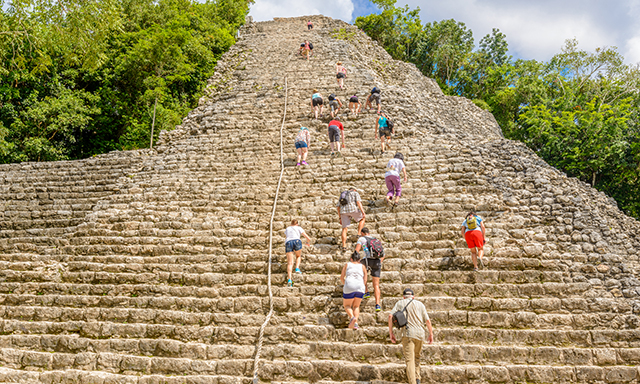 Climb The Coba Pyramid and Cenote Swim