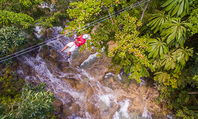 Adrenaline Zipline Over Dunn's River Falls & Climb with Lunch