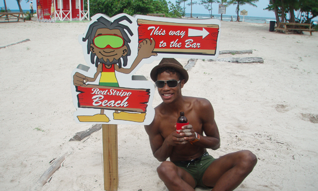 Red Stripe Beach Shuttle