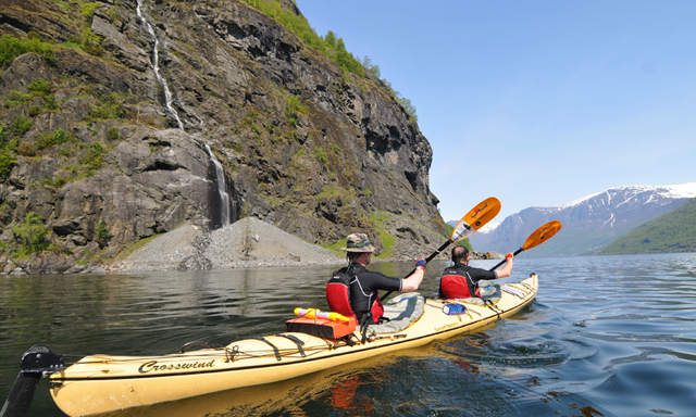 Kayaking on Aurlandsfjord