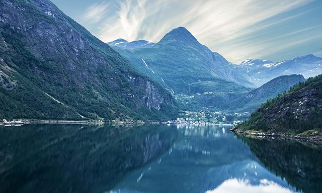 Scenic Boat Ride through Geirangerfjord