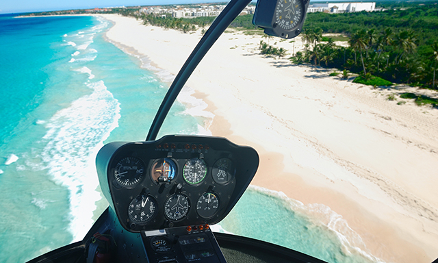 A Helicopter Tour Over Grand Cayman