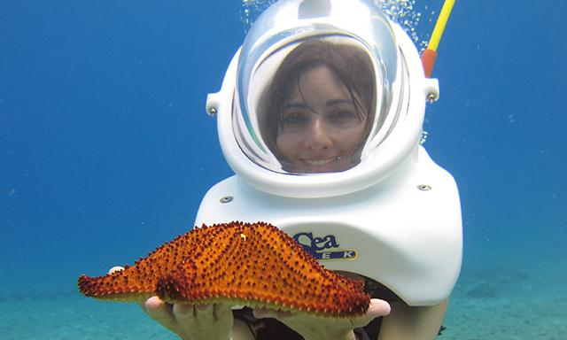 SeaTrek Coral Canyons Helmet Dive