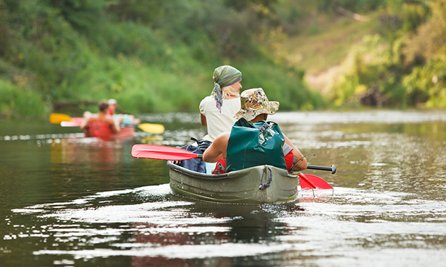 Canoeing in Sella River