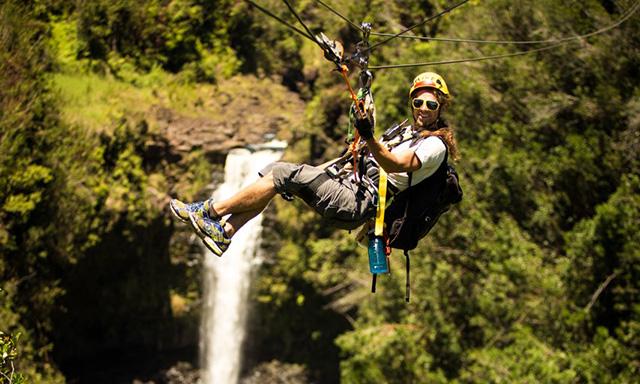 Zipline Through Paradise and Waterfalls