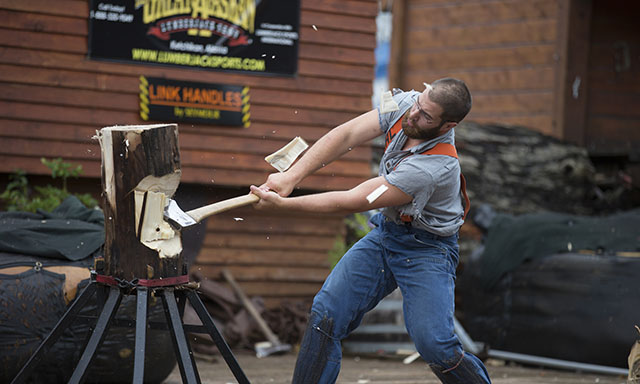 Great Alaskan Lumberjack Show and Axe Challenge