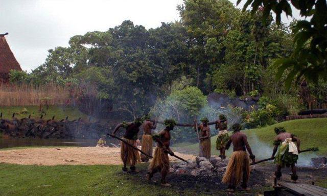 Fijian Fire Walking and Cultural Show, Morning or Afternoon Tea at Westin Resort