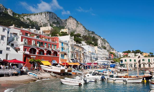 Capri, Sorrento & Pompeii by Land and Sea