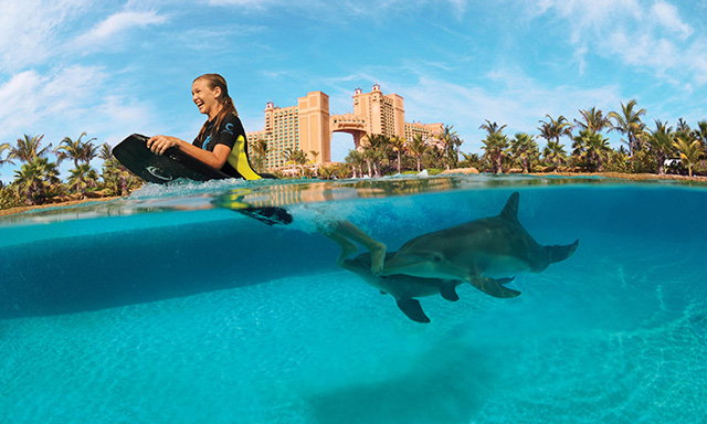 Atlantis Dolphin Deep Water Interaction and Beach Day