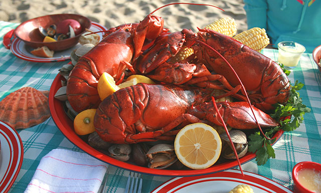 A Traditional Maine Experience - Lobster Bake Dinner and Narrow Gauge Railroad