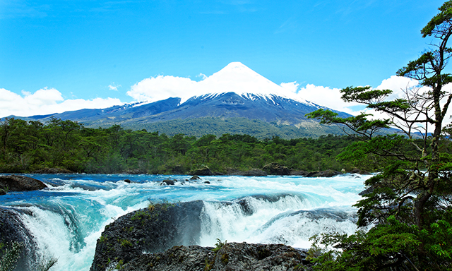 Osorno Volcano and Petrohue Rapids