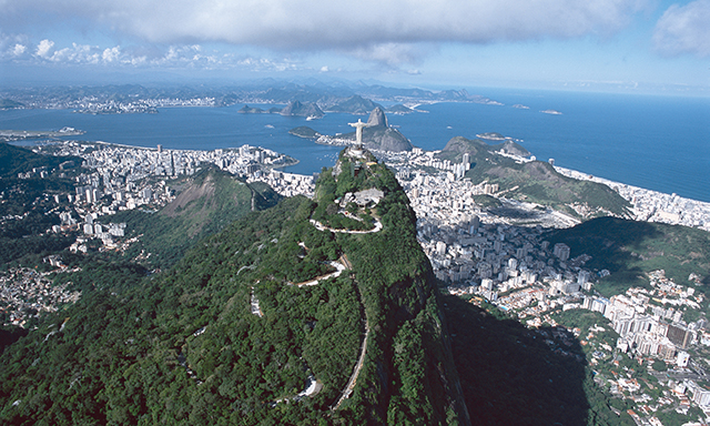 Corcovado and a View of Rio's Beaches