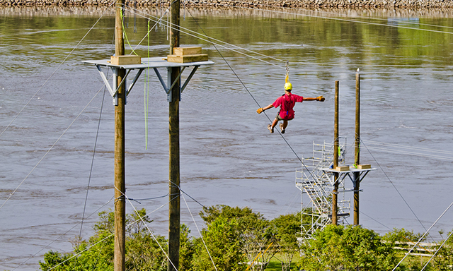 Reversing Rapids Zip Line Adventure