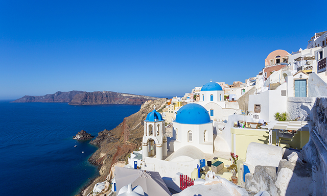 Island of Santorini and Village of Oia