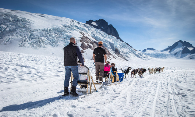 Dog Sledding and Glacier Flightseeing by Helicopter