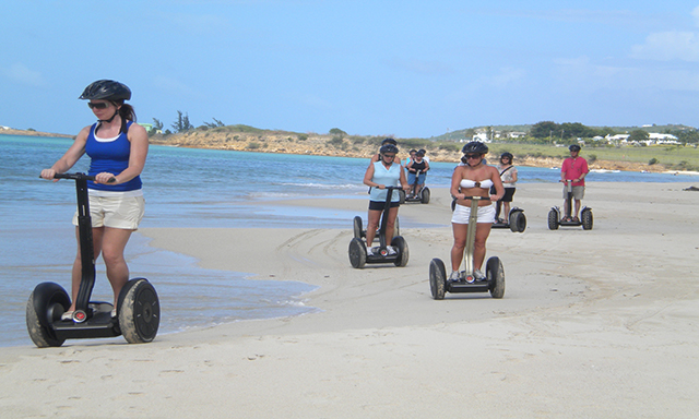 Antiguan Beach and Fort James by Segway