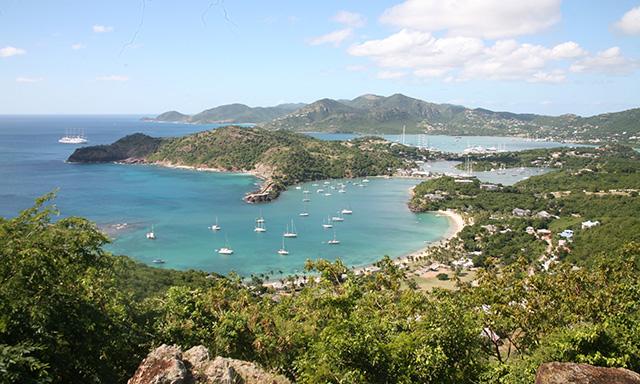 Scenic Antigua and Beach